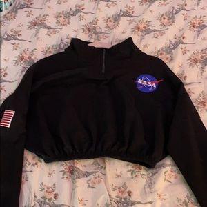 NASA collared sweatshirt